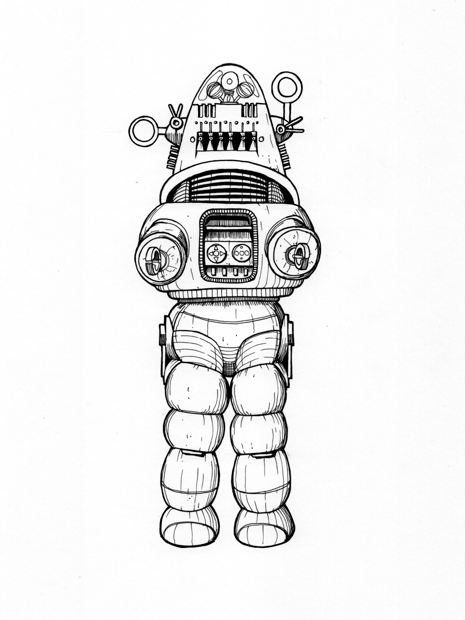 Line Art Robot : Drawings this northern boy page