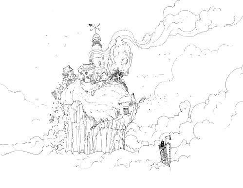 My version of John's fabulous 'Home' illustration.