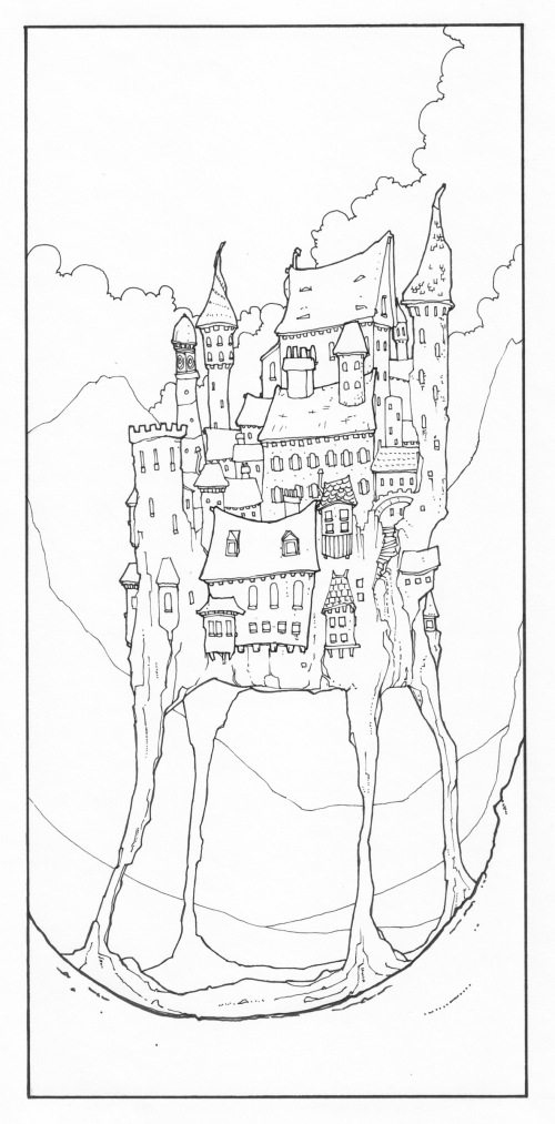 Pen illustration image