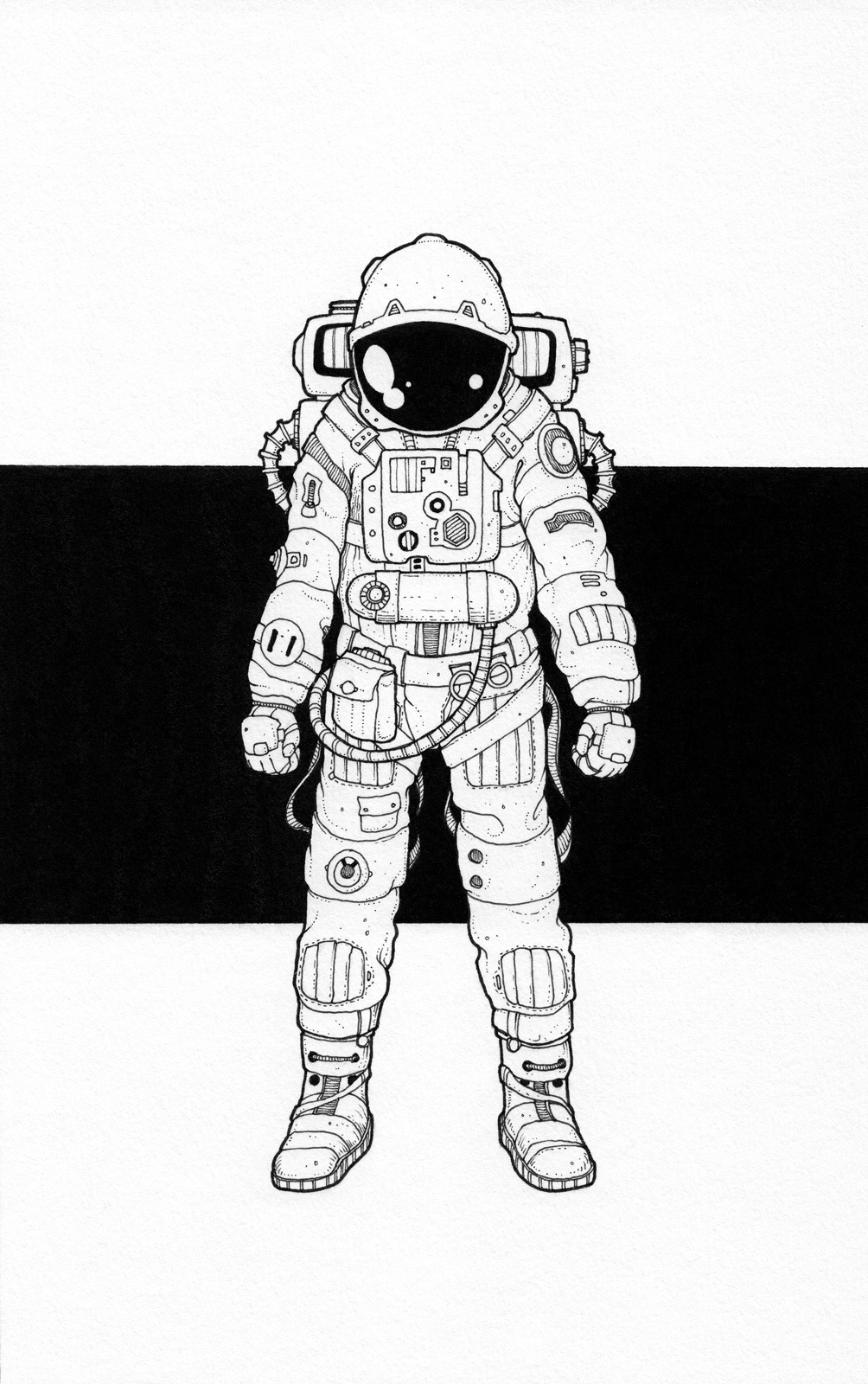 astronaut space drawing -#main