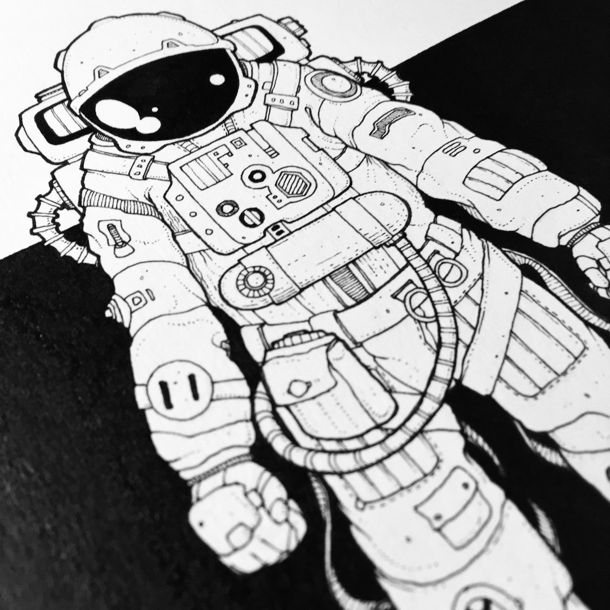 astronaut floating sketch - Google Search | Strato 2016 ...