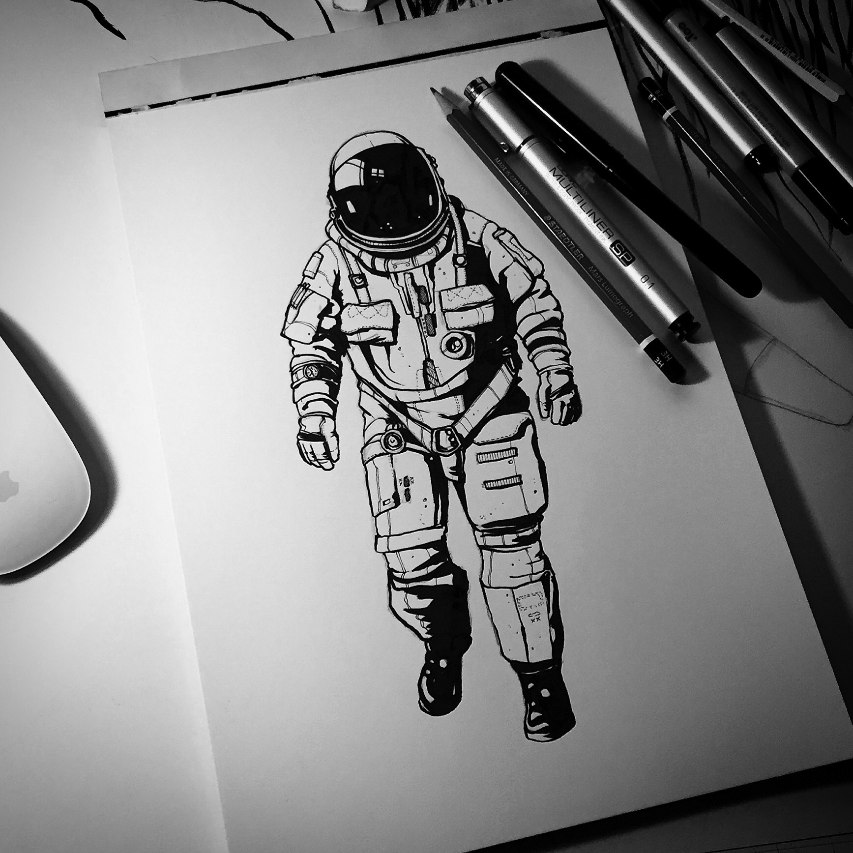 astronaut space drawing - photo #3