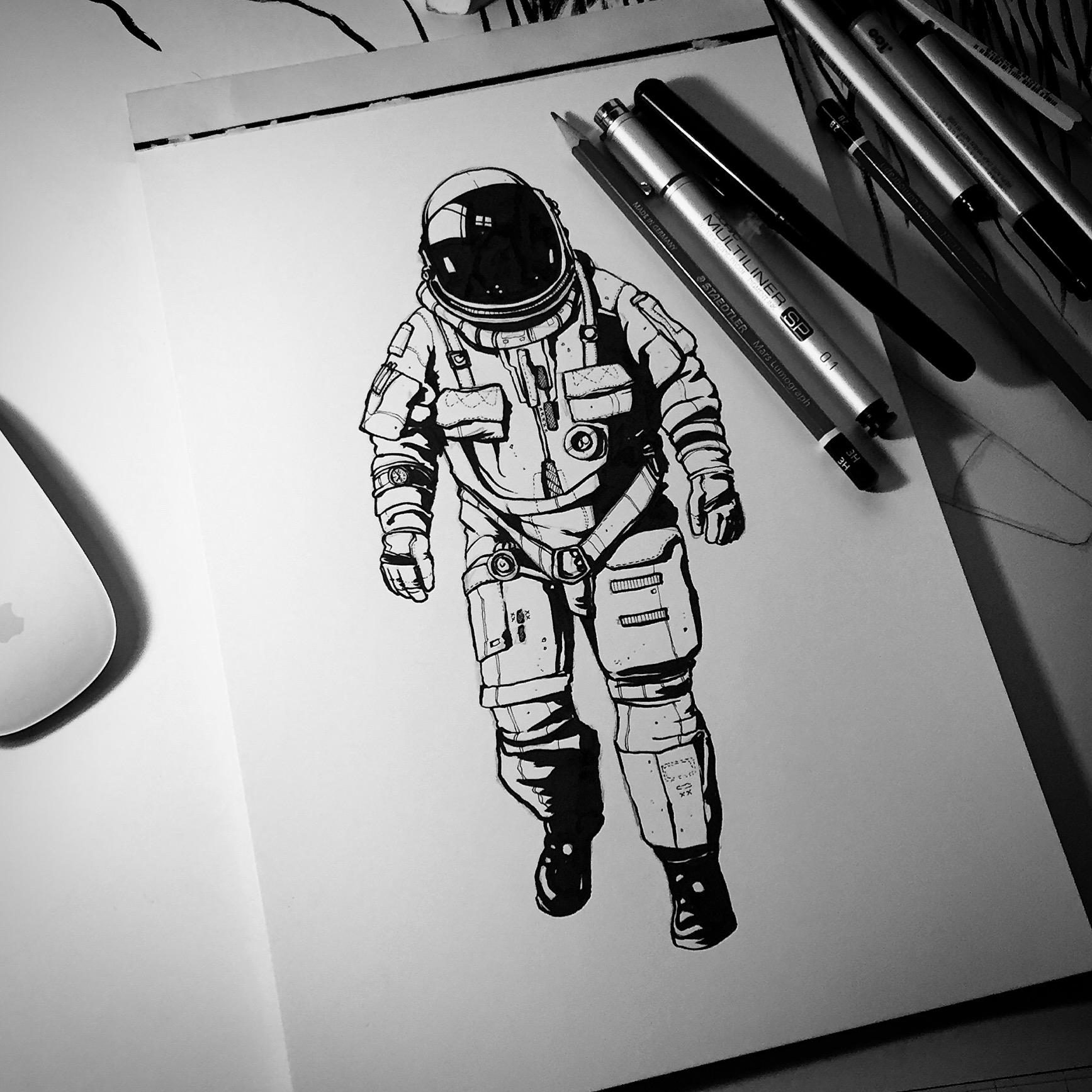 It's just an image of Mesmerizing Space Art Drawing