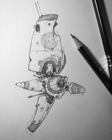 Doodling spaceships.