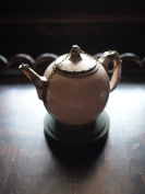 A seventeenth century teapot at Ham House.