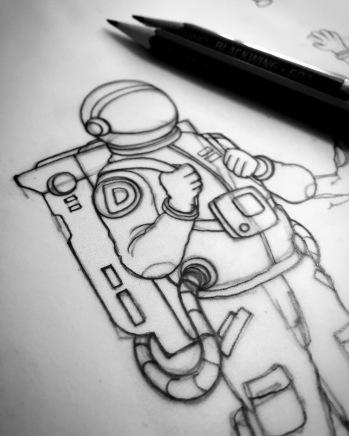 Initial sketching