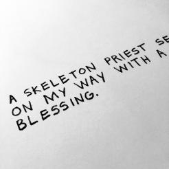 A skeleton priest