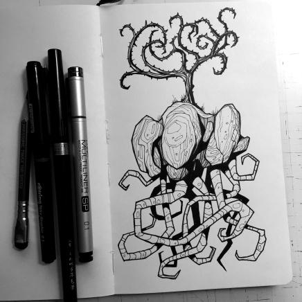 The Thorn Tree, moleskin sketch