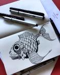 Fish sketch.