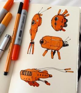 Orange 'things'.