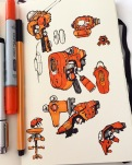 Sci-fi sketches.