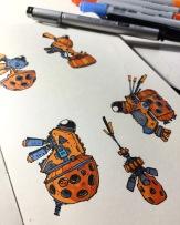 Orange Ships.