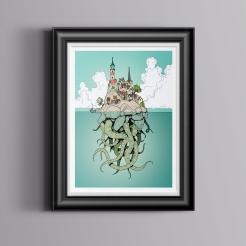 Tentacles-Framed